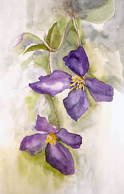 Clematis Painting - Four Square by Lynne Furrer