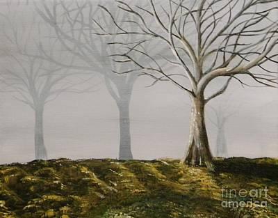 Four Trees Print by Steven Dopka