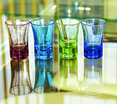 Four Vodka Glasses Print by Svetlana Sewell