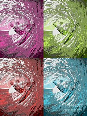 Kelly Slater Painting - Four Waves by RJ Aguilar