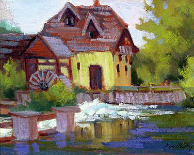 Old Mills Painting - Fourge Mill Giverny by Diane McClary