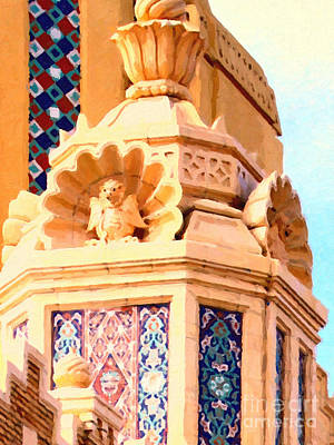 Fox Theater Gargoyles Print by Wingsdomain Art and Photography