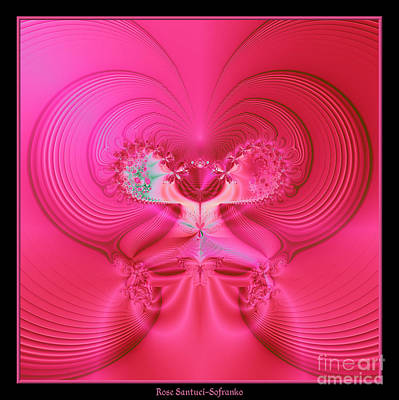 Hearts Photograph - Fractal 30 Love Is In The Air by Rose Santuci-Sofranko