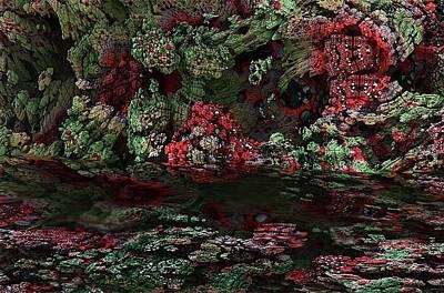 Fractal Alien Landscape Print by David Lane