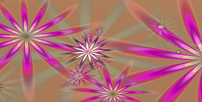Fractal Flowers Print by Gina Lee Manley