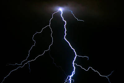Lightning Photograph - Fracture by Ethan  Bryant
