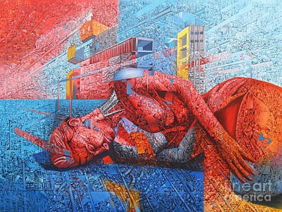 Landskape Painting - Fragment Expression 2 by Bekim Mehovic