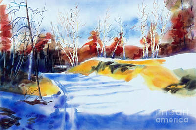 Art In Nature Mixed Media - Framed In Gold II by Kathy Braud