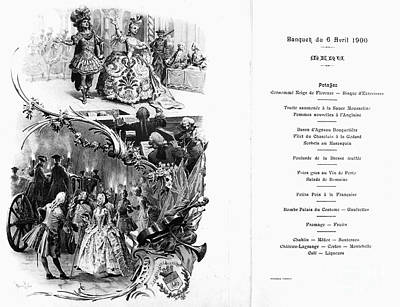 Argent Photograph - France: Menu, 1900 by Granger