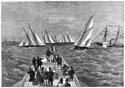 1874 Photograph - France: Yacht Race, 1874 by Granger