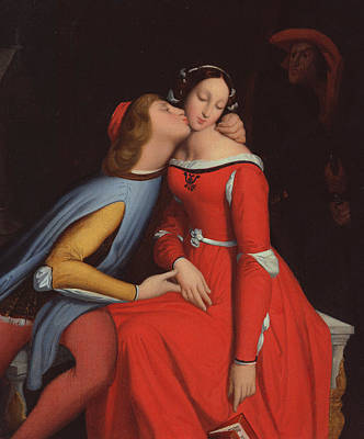 Paolo Painting - Francesca Da Rimini And Paolo Malatestascene  by jean Auguste Dominique Ingres