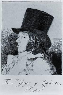 Francisco Goya 1746-1828, Self Portrait Print by Everett