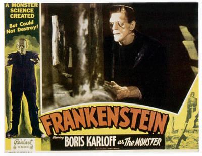 Frankenstein, Boris Karloff On 1951 Print by Everett