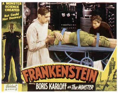 Frankenstein, From Left Boris Karloff Print by Everett