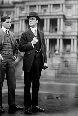 Franklin Delano Roosevelt As A Young Man - C 1913 Print by International  Images