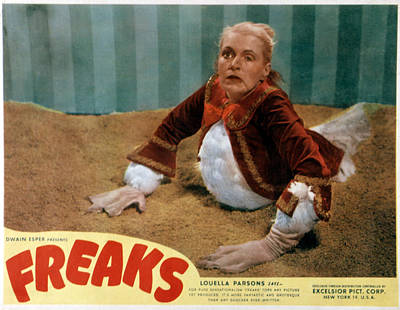 Freaks, Olga Baclanova, 1932, Disfigured Print by Everett