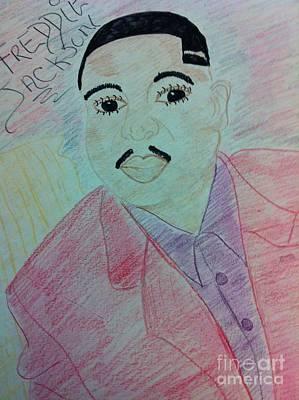 Soul Singer Drawing - Freddie Jacksons by Charita Padilla