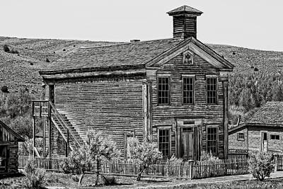Bannack Ghost Town Photograph - Free Masons Clubhouse - Bannack Montana Ghost Town by Daniel Hagerman