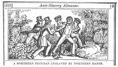 Freedman Enslaved, 1839 Print by Granger