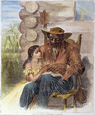 Freedman Reading, 1866 Print by Granger