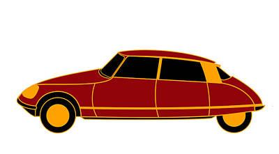 French Iconic Car - Virtual Car Print by Asbjorn Lonvig