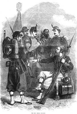 French Infantry, 1870 Print by Granger