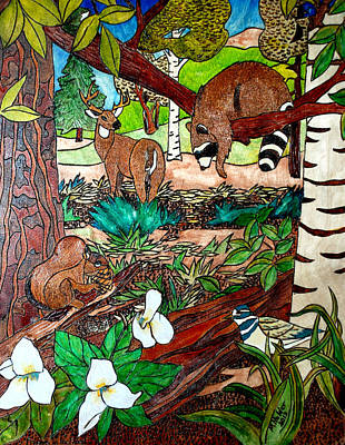 Frends Of The Forest Print by Mike Holder
