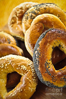 Grocery Photograph - Fresh Bagels by Elena Elisseeva