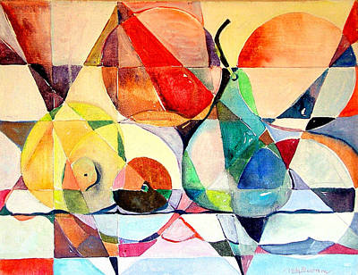 Pear Drawing - Fresh Fruit by Mindy Newman