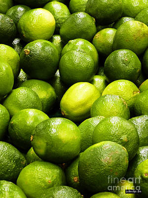 Lime Digital Art - Fresh Limes by Methune Hively