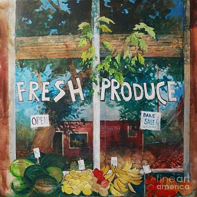 Fresh Produce Print by Micheal Jones