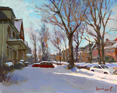Snowscape Painting - Fresh Snow by Ylli Haruni