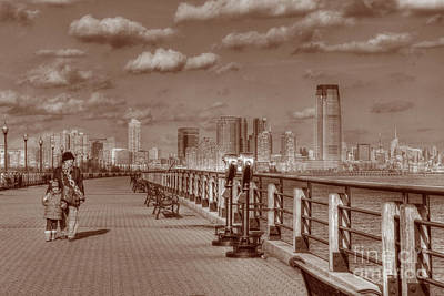 River Scenes Photograph - Friends Sepia by Lee Dos Santos