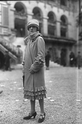 Cloche Hat Photograph - Frilly Coat by Seeberger Freres