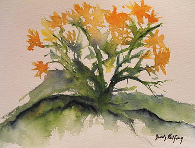 Free Form Painting - From My Garden by Judy Palfrey