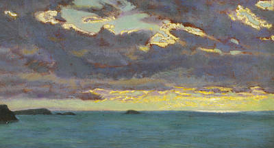 Storm Clouds Painting - From Pentire Point by Arthur Hughes