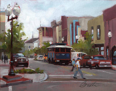 Intersection Painting - Front Street by Todd Baxter