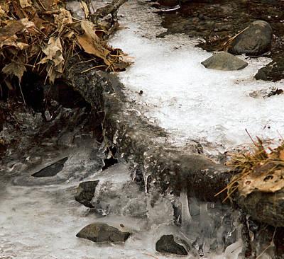 Bike Photograph - Frozen Creek Water Fall by LeeAnn McLaneGoetz McLaneGoetzStudioLLCcom