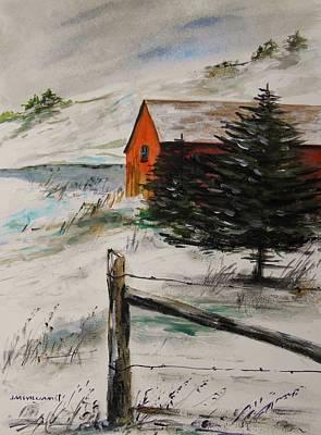 Frozen Pond Print by John Williams