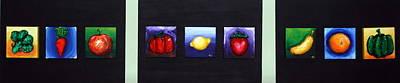 Fruit And Veggies Print by Alison  Galvan