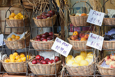Fruit For Sale Print by Clarence Holmes