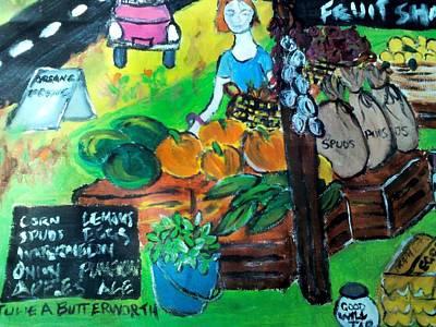 Fruit Shack Print by Julie Butterworth