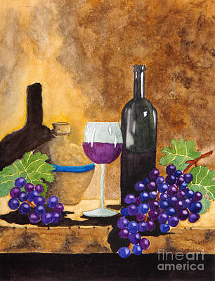 Italian Wine Painting - Fruits Of The Vine by Kimberlee Weisker