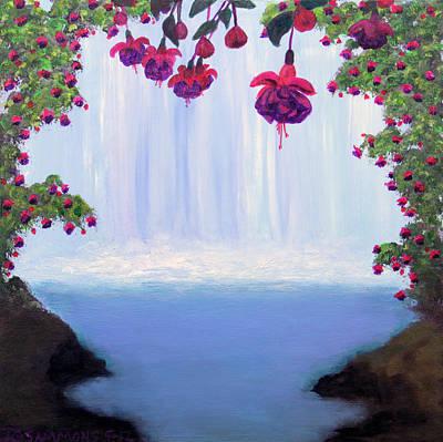 Fuchsia Falls Original by Janet Greer Sammons