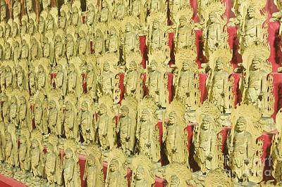 Miyajima Photograph - Fudo Statues by Rob Tilley
