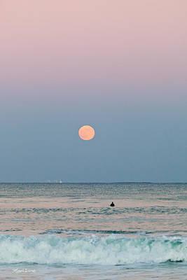 Full Moon In Taurus October 29 2012 Print by Michelle Wiarda