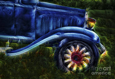 Funky Old Car Print by Susan Candelario