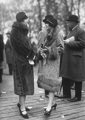 Cloche Hat Photograph - Fur Coats by Seeberger Freres