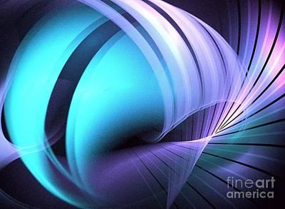 Abtract Digital Art - Fusion by Kim Sy Ok