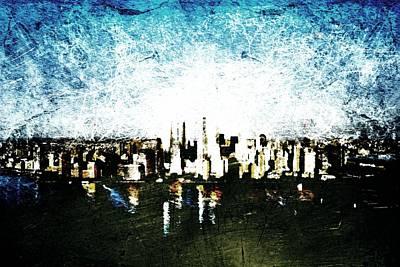 Ground Zero Digital Art - Future Skyline by Andrea Barbieri